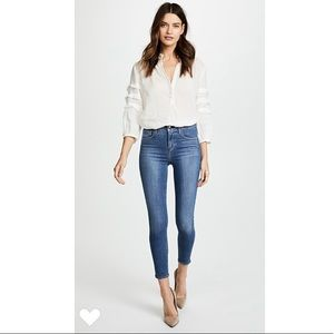 L'agence Margot Skinny High Rise Soft Blue Jeans